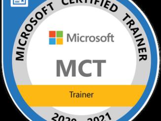 Trajetória de certificação MCT